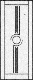 Design porte intérieure 407