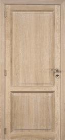 Porte intérieure chêne français massif cérusé