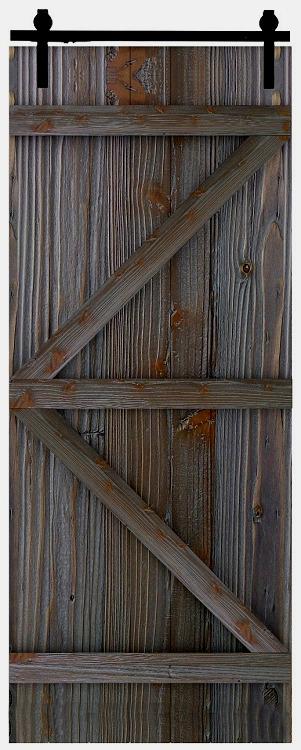 Porte de grange rustique grise