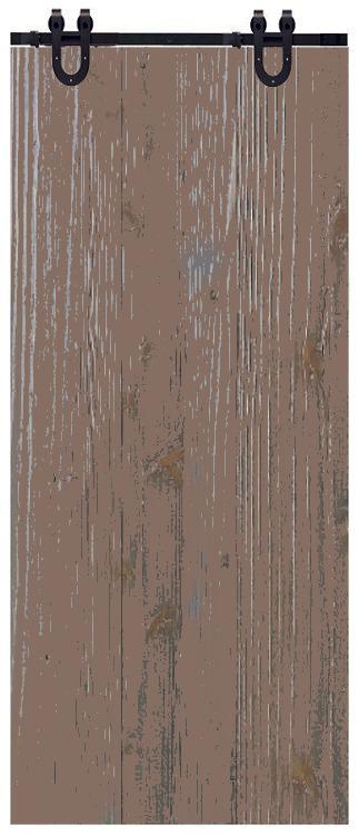 Porte de grange rustique brune