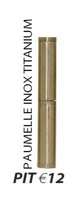 Paumelle inox Titanium PIT