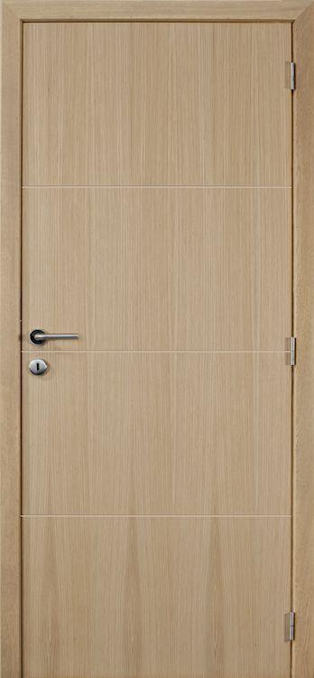 Vlakke deuren in eik