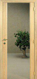 Binnendeur in glas FUME