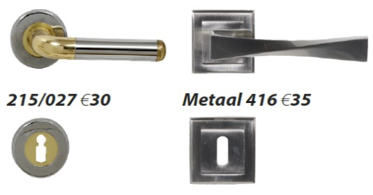 Deurklinken inox + metaal modern
