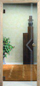 Binnendeur in glas N622