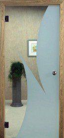Binnendeur in glas N634