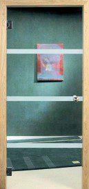 Binnendeur in glas N644