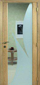 Binnendeur in glas S634