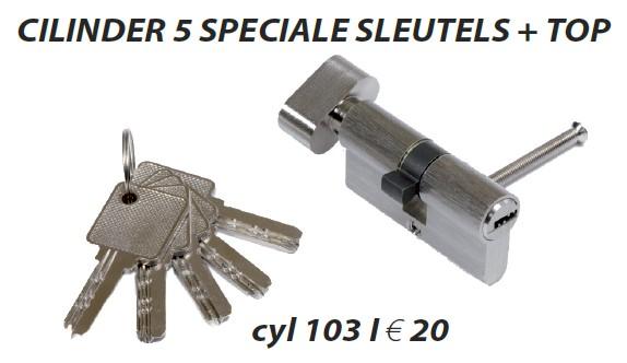 Cilinder met speciale sleutels