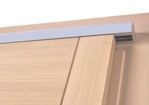 Detail houten schuifdeur