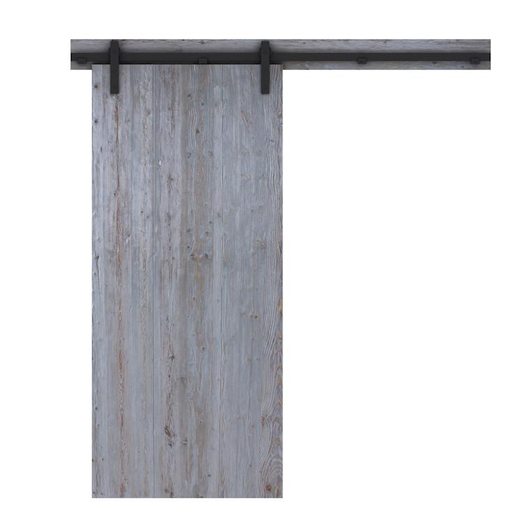 Loftdeur-barndeur rustiek grijs - achterzijde