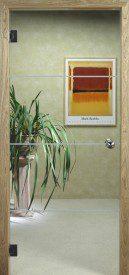 Binnendeur in glas N644.1